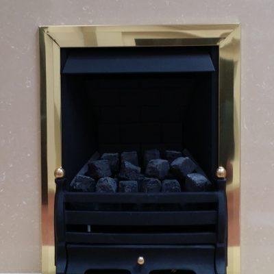 Black Daisy Brass Slimline Manual Control