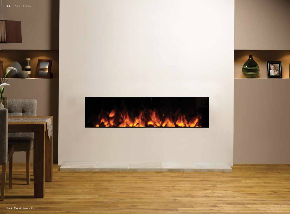 Studio Electric Inset 150 - Fireplace by Design